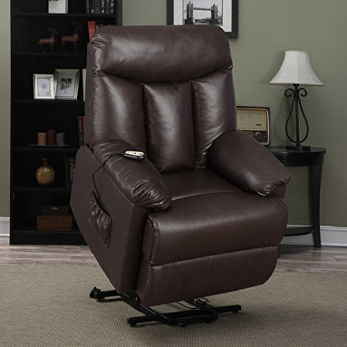 Best Home ProLounger Lya Modern Brown Renu Leather Power Recline and Lift Wall Hugger Chair by Best Home Products
