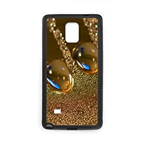 Samsung Galaxy Note 4 Cases Droplets Designs for Girls, Phone Case for Samsung Galaxy Note 4 for Girls [Black]