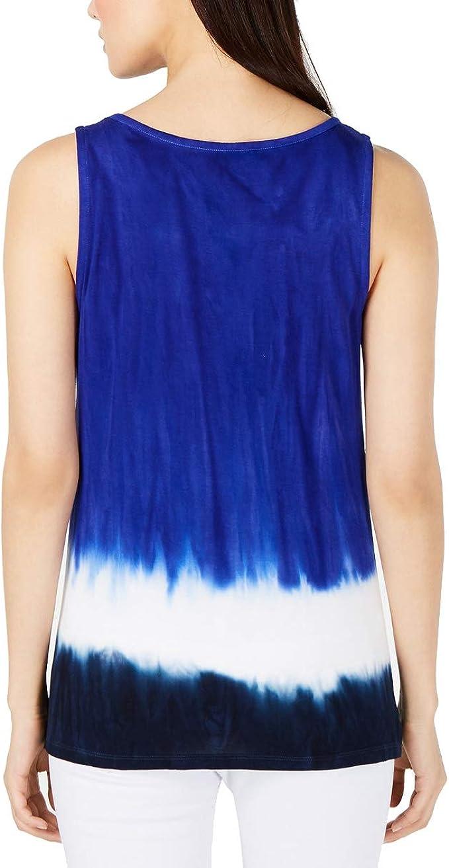 INC Womens Tie-Dye Studded Keyhole Halter Top BHFO 8538