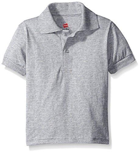 Hanes Big Boys' Short Sleeve Eco Smart Jersey Polo – DiZiSports Store
