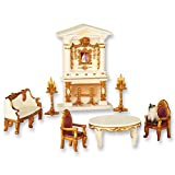 Miniature Victorian Furniture Set - 8 Pc, Multi, Resin