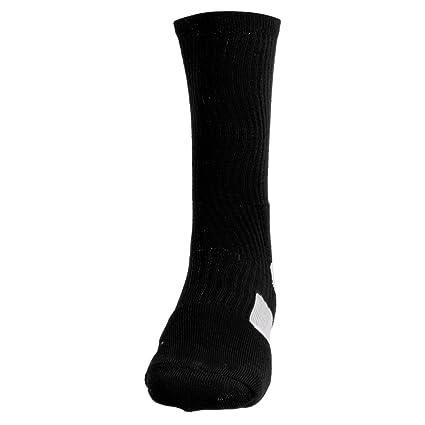 Baoblaze Calcetines de Deporte de Baloncesto de Hombres Secado Rápido - Negro+Blanco