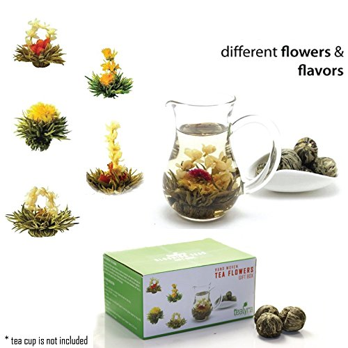 Flowers And Gifts (12 Blooming Flowering Green Tea Gift Box (Variety)