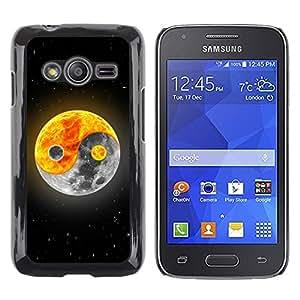 TECHCASE**Cubierta de la caja de protección la piel dura para el ** Samsung Galaxy Ace 4 G313 SM-G313F ** Yin yang Moon Sun