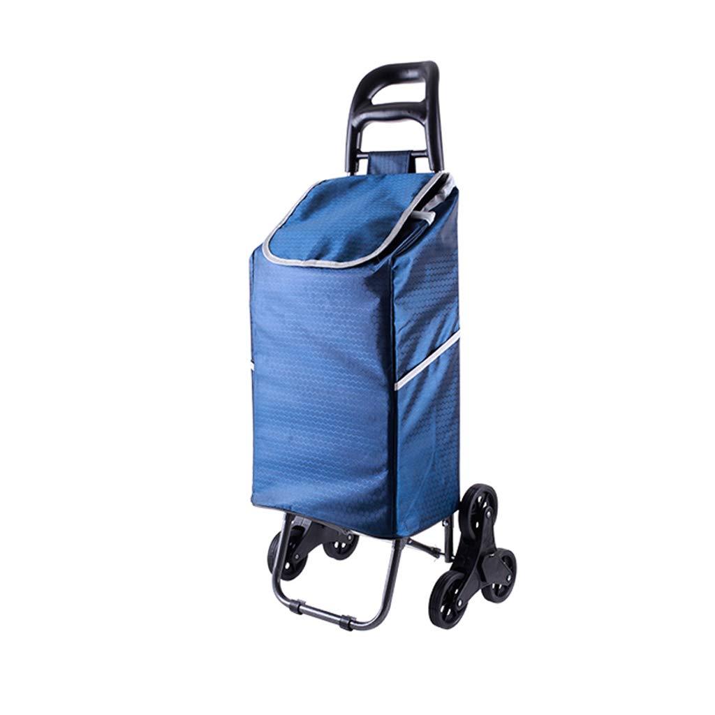 Carrito de Compras Trolley Carrito de Compras (Color : Azul Oscuro): Amazon.es: Electrónica