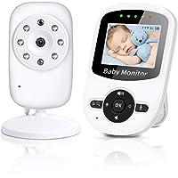 Baby Monitor Wireless Baby phone Digital Audio con Fotocamera Digitale Visione Notturna Monitoraggio della Sensore di Temperatura Espandibilità Multi-camera (non Incluse) LCD Display 2.4 GHz