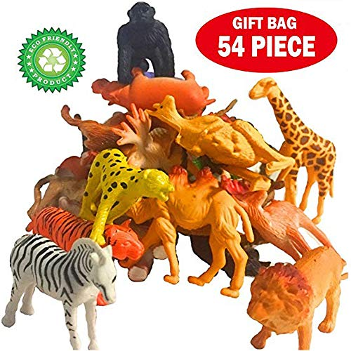 DINGFASHION 54 PCS Realistic Plastic Animals for Toddlers,Jungle,Forests,Grasslands,Lakes for sale  Delivered anywhere in USA