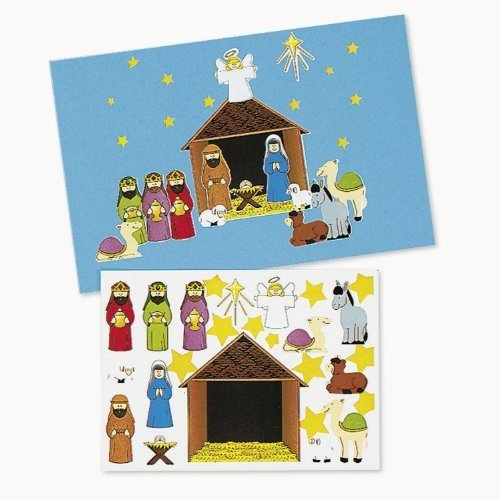 Make-A-Nativity Sticker Sets (1 dz)