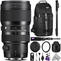 Sigma 50-100mm F1.8 Art DC HSM Lens for NIKON DSLR Cameras w/ Advanced Photo and Travel Bundle