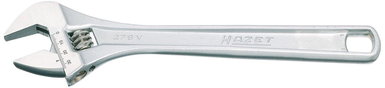 Argento Lunghezza 158 mm Hazet 279V-6 Chiave a Forchetta Semplice Regolabile
