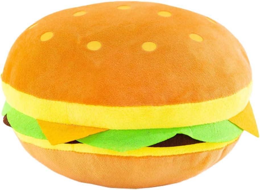 NUOBESTY Cheeseburger Pillow Plush Huge Hamburger Throw Pillow Stuffed Hamburger Pillow Soft Burger Food Plush Toy Gift