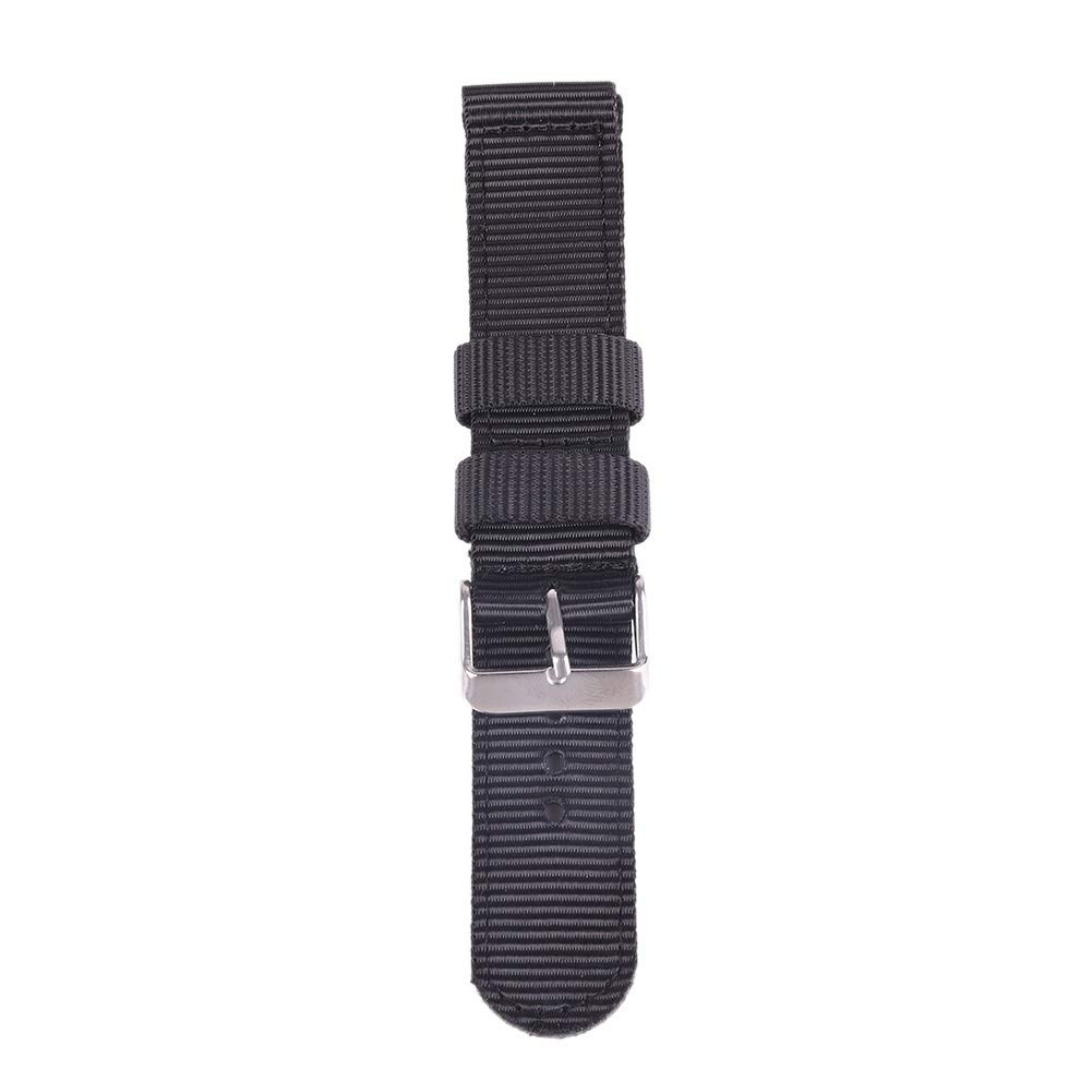 Bornbayb Solid Color Premium Nylon Nato Watch Straps Canvas Fabric Watch Band (Width: 18mm, 20mm, 22mm, 24mm) by Bornbayb (Image #3)