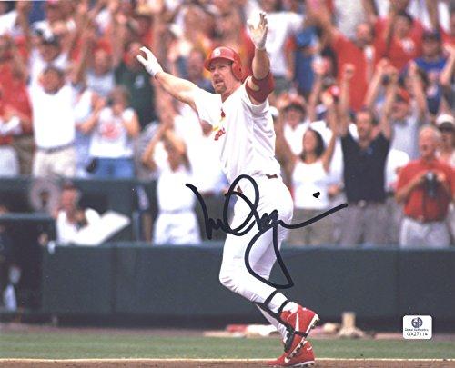 Mark McGwire St. Louis Cardinals Signed Autographed 8 x 10 Home Run Celebration Photo COA