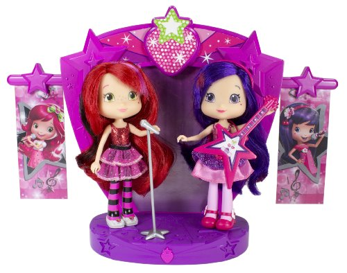 The Bridge Direct Strawberry Shortcake Sweet Beats Stage Playset with 2 Dolls