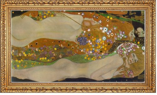 (Art Oyster Gustav Klimt Water Serpents II - 15.05