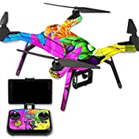 MightySkins Protective Vinyl Skin Decal for 3DR Solo Drone Quadcopter wrap cover sticker skins Colorful Flowers