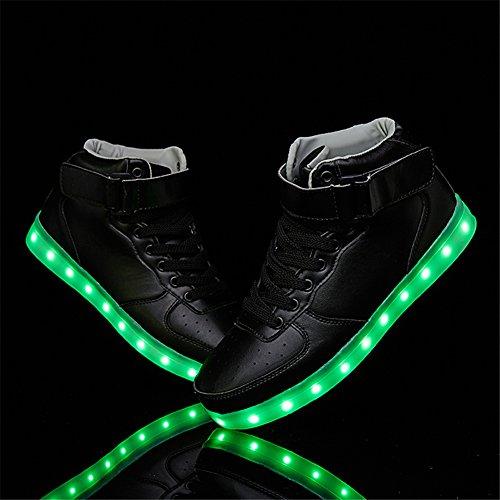 SANYES USB Lade leuchten Schuhe Sport LED Schuhe tanzen Turnschuhe Schwarz02