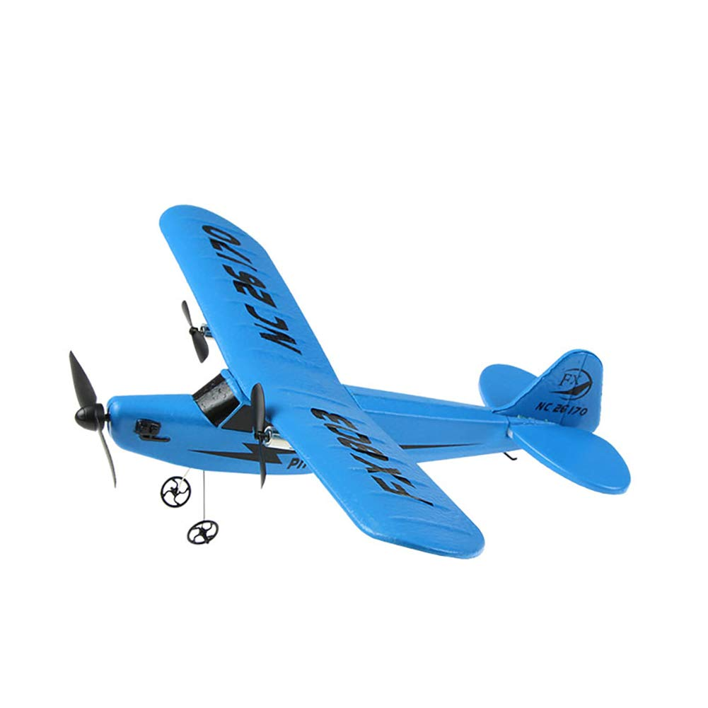 CHoppyWAVE Fixed Wing RC Airplane Helicopter Plane Glider Outdoor Kids Toys Children Gift Blue by CHoppyWAVE