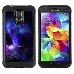 BullDog Case@ Purple Planet Universe Moon Galaxy Star Cloud Rugged Hybrid Armor Slim Protection Case Cover Shell For S5 Case , G9006 Cover Case ,Leather for S5 ,S5 Cover Leather Case ,G9006 Leather Case