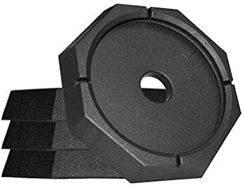 SnapPad EQ Permanently Attached RV Leveling Jack Pad for Equalizer Landing Feet Octagon 4-Pack
