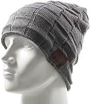 amorus Bluetooth Winter Knit Hat Beanie Built in Microphone HD Stereo Speaker Headphone for Men Women Fitness