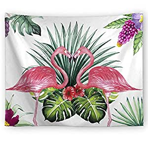 For Home Living Room Décor Wall Hanging Tapestry Yoga Mat Boho Hippie Beach Cover Towel Wall Cloth Wall Tapestry Flamingos Tablecloth