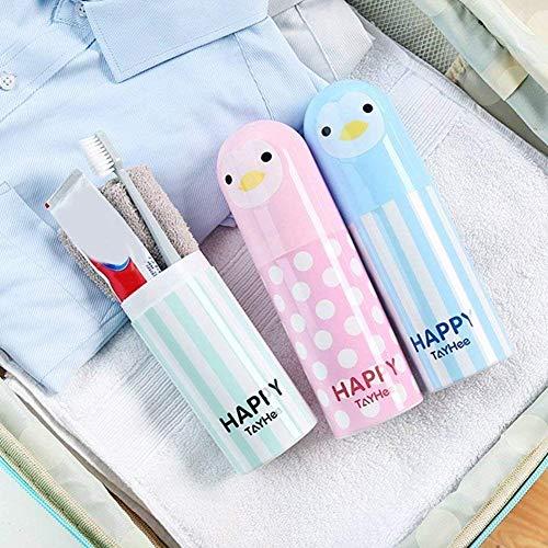 Azul Funda Porta cepillos y Pasta de Dientes de Dibujo de ping/üino para Viaje y peri/ódico Ndier cepillos de Viaje
