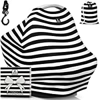 """Baby Car Seat Canopy & Multi-Use Nursing Cover - FREE GIFT BOX SET - """"The Mag..."""