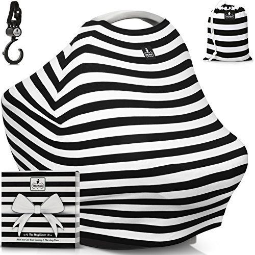 Baby-Car-Seat-Canopy-Multi-Use-Nursing-Cover-FREE-GIFT-BOX-SET-The-MagiCover-by-Little-Magic