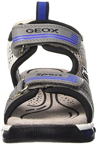 Geox J Sandal Android Boy - Sandalias Niños Gris (Grey / White)