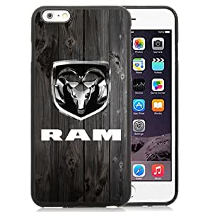 Easy Set,Customized Iphone 6 Plus Case Design with Dodge Ram Iphone 6 Plus TPU 5.5 Inch Black Cell Phone Case