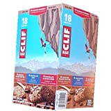 CLIF Organic Nutritional Supplement, 18 x 68gram, Builders Protein, Energy Bars: Peanut Butter, Chocolate Chip, Chocolate Almond Fudge