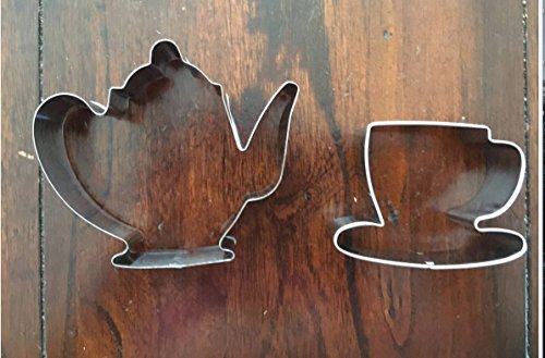 (TEA TIME TEAPOT AND TEACUP COOKIE CUTTER SET)