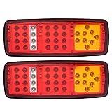 Cuque 1 Pair COB LED Trailer Tail Lights 12V 2W Trailer Truck RV Turn Signal Light Side Marker Car Truck Trailer Light Backup Light Reverse Light