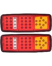 Terisass1 Pair COB LED Trailer Tail Lights 12V 2W Trailer Truck RV Turn Signal Light Side Marker Car Truck Trailer Light Backup Light Reverse Light