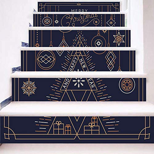 XUEXUE Stairs Stickers 3D Line Drawing Step Sticker Decal PVC Creative Mural Step Art Decor Three-Dimensional -