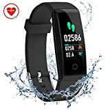 DoSmarter Activity Tracker,Color Screen Heart Rate Monitor Pedometer Watch, Waterproof Fitness Health Tracker