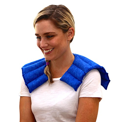 Nature Creation- Neck & Shoulder Wrap - Herbal Heating Pad - Natural Pain & Stress Relief (Blue Marble) - Wrap Microwaveable