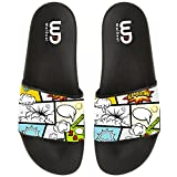 Cartoon Comic Anime Boom Summer Slide Slippers For Men Women Indoor Outdoor Beach Casual Sandal Shoes