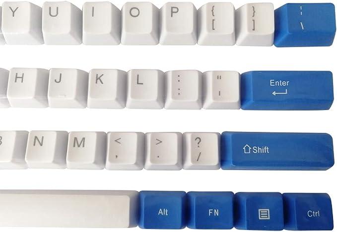 Feicuan Keycaps PBT Espesar 61 Teclas Sublimación de Tinta ...