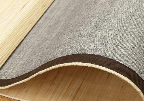 本間3畳サイズ (約191×286cm) 艶あふれるセガ籐製ラタンカーペット (#5203030) カラー:ナチュラル 『 ジャワ 』