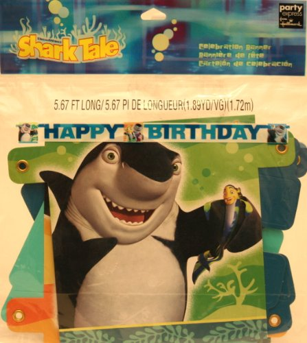 "Shark Tale Party Supplies ""Happy Birthday"" Banner 5.67 Ft"