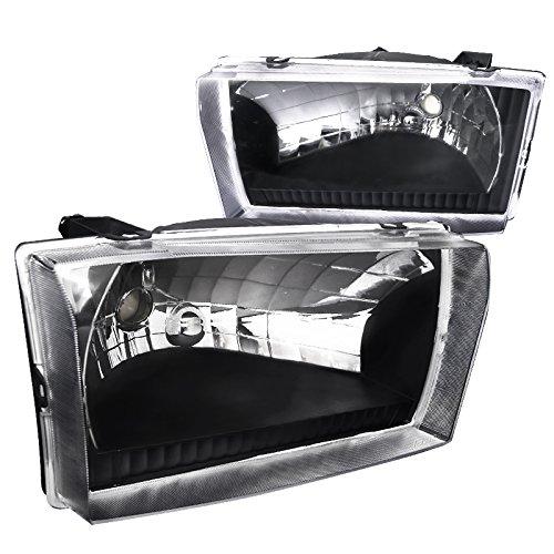 Spec-D Tuning LH-F25099JM-ABM Ford F250/350/450 Super Duty Excursion Diamond Black Headlights Pair