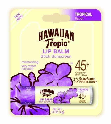 Hawaiian Tropic Tropical Sunblock Lip Balm - SPF 45+, .14-Ou