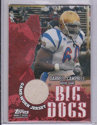 2004 Topps Draft Picks Darrell Campbell Notre Dame Bog Dogs Game Used Jersey Football Card ()