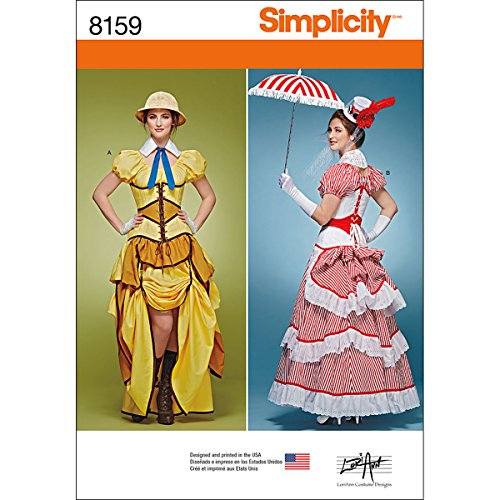 Simplicity Creative Patterns 8159 Misses' Cosplay Costumes with Corsets, H5 (6-8-10-12-14)]()