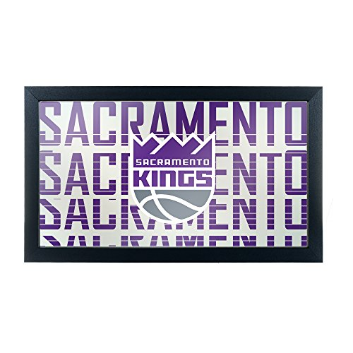 Trademark Gameroom NBA1500-SK3 NBA Framed Logo Mirror - City - Sacramento Kings by Trademark Global