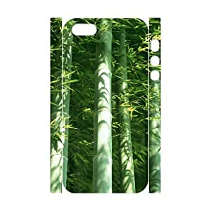 ALICASE Diy Customized Case Bamboo 3D Case for iPhone 5,5S [Pattern-1]