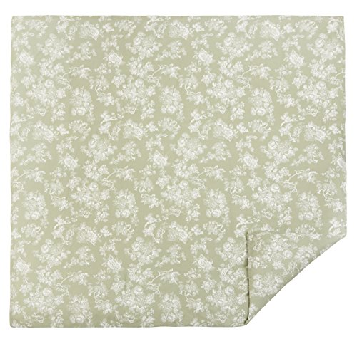 Pinzon 170 Gram Flannel Cotton Duvet Cover, Full / Queen, Floral Sage