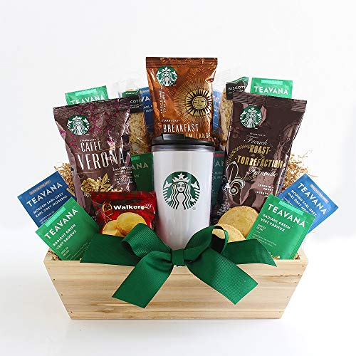 California Delicious Starbucks Daybreak Gourmet Coffee Gift Basket, 5 Pound, Coffee and Tea, 1 Count
